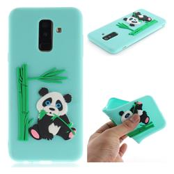Panda Eating Bamboo Soft 3D Silicone Case for Samsung Galaxy A6+ (2018) - Green