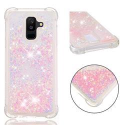 Dynamic Liquid Glitter Sand Quicksand TPU Case for Samsung Galaxy A6 Plus (2018) - Silver Powder Star