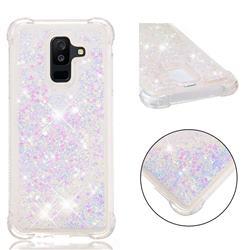 Dynamic Liquid Glitter Sand Quicksand Star TPU Case for Samsung Galaxy A6 Plus (2018) - Pink