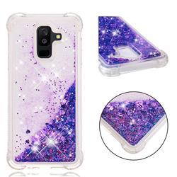 Dynamic Liquid Glitter Sand Quicksand Star TPU Case for Samsung Galaxy A6+ (2018) - Purple