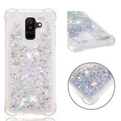 Dynamic Liquid Glitter Sand Quicksand Star TPU Case for Samsung Galaxy A6+ (2018) - Silver