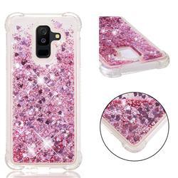 Dynamic Liquid Glitter Sand Quicksand Star TPU Case for Samsung Galaxy A6 Plus (2018) - Diamond Rose