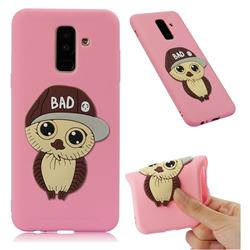 Bad Boy Owl Soft 3D Silicone Case for Samsung Galaxy A6 Plus (2018) - Pink