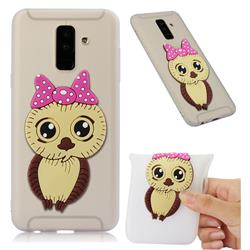 Bowknot Girl Owl Soft 3D Silicone Case for Samsung Galaxy A6 Plus (2018) - Translucent White
