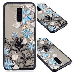Lilac Lace Diamond Flower Soft TPU Back Cover for Samsung Galaxy A6 Plus (2018)