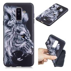 Lion 3D Embossed Relief Black TPU Cell Phone Back Cover for Samsung Galaxy A6 Plus (2018)
