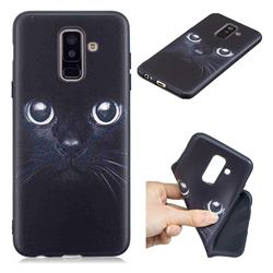 Bearded Feline 3D Embossed Relief Black TPU Cell Phone Back Cover for Samsung Galaxy A6 Plus (2018)