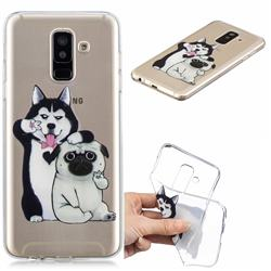 Selfie Dog Clear Varnish Soft Phone Back Cover for Samsung Galaxy A6+ (2018)