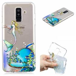 Mermaid Clear Varnish Soft Phone Back Cover for Samsung Galaxy A6 Plus (2018)