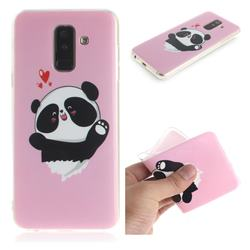 Heart Cat IMD Soft TPU Cell Phone Back Cover for Samsung Galaxy A6 Plus (2018)