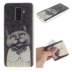 Cat Embrace IMD Soft TPU Cell Phone Back Cover for Samsung Galaxy A6 Plus (2018)