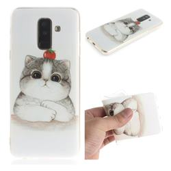 Cute Tomato Cat IMD Soft TPU Cell Phone Back Cover for Samsung Galaxy A6 Plus (2018)