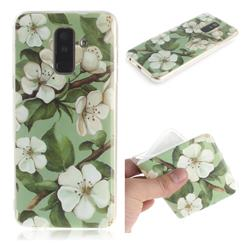 Watercolor Flower IMD Soft TPU Cell Phone Back Cover for Samsung Galaxy A6 Plus (2018)