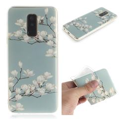 Magnolia Flower IMD Soft TPU Cell Phone Back Cover for Samsung Galaxy A6 Plus (2018)