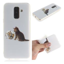 Cat and Tiger IMD Soft TPU Cell Phone Back Cover for Samsung Galaxy A6 Plus (2018)