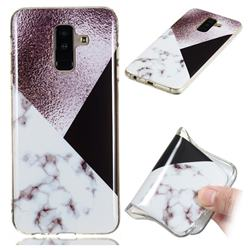 Black white Grey Soft TPU Marble Pattern Phone Case for Samsung Galaxy A6 Plus (2018)