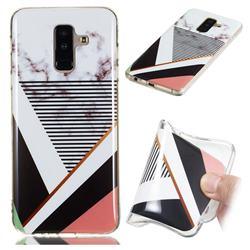 Pinstripe Soft TPU Marble Pattern Phone Case for Samsung Galaxy A6 Plus (2018)
