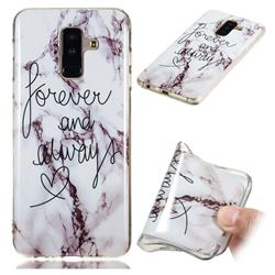 Forever Soft TPU Marble Pattern Phone Case for Samsung Galaxy A6 Plus (2018)