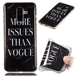 Stylish Black Soft TPU Marble Pattern Phone Case for Samsung Galaxy A6 Plus (2018)