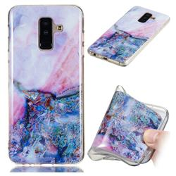 Purple Amber Soft TPU Marble Pattern Phone Case for Samsung Galaxy A6 Plus (2018)