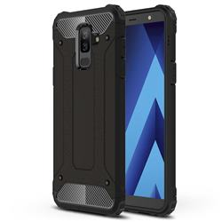 King Kong Armor Premium Shockproof Dual Layer Rugged Hard Cover for Samsung Galaxy A6 Plus (2018) - Black Gold