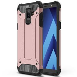 King Kong Armor Premium Shockproof Dual Layer Rugged Hard Cover for Samsung Galaxy A6 Plus (2018) - Rose Gold