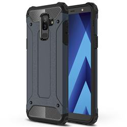 King Kong Armor Premium Shockproof Dual Layer Rugged Hard Cover for Samsung Galaxy A6 Plus (2018) - Navy