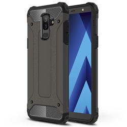 King Kong Armor Premium Shockproof Dual Layer Rugged Hard Cover for Samsung Galaxy A6 Plus (2018) - Bronze