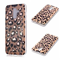 Leopard Galvanized Rose Gold Marble Phone Back Cover for Samsung Galaxy A6 Plus (2018)