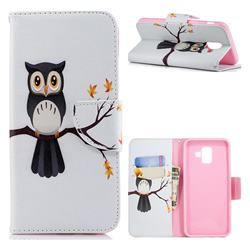 Owl on Tree Leather Wallet Case for Samsung Galaxy A6 Plus (2018)
