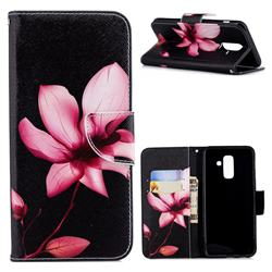 Lotus Flower Leather Wallet Case for Samsung Galaxy A6+ (2018)