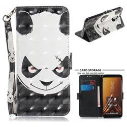 Angry Bear 3D Painted Leather Wallet Phone Case for Samsung Galaxy A6 Plus (2018)