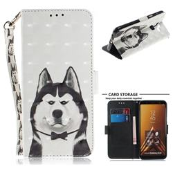 Husky Dog 3D Painted Leather Wallet Phone Case for Samsung Galaxy A6 Plus (2018)