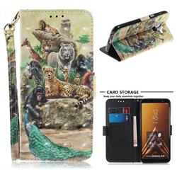 Beast Zoo 3D Painted Leather Wallet Phone Case for Samsung Galaxy A6 Plus (2018)