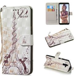 Tower Couple 3D Painted Leather Wallet Phone Case for Samsung Galaxy A6 Plus (2018)