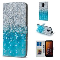 Sea Sand 3D Painted Leather Phone Wallet Case for Samsung Galaxy A6 Plus (2018)