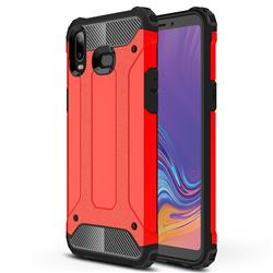 King Kong Armor Premium Shockproof Dual Layer Rugged Hard Cover for Samsung Galaxy A6s - Big Red