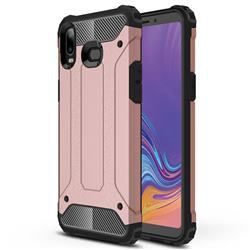 King Kong Armor Premium Shockproof Dual Layer Rugged Hard Cover for Samsung Galaxy A6s - Rose Gold