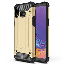 King Kong Armor Premium Shockproof Dual Layer Rugged Hard Cover for Samsung Galaxy A6s - Champagne Gold