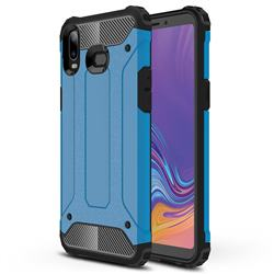King Kong Armor Premium Shockproof Dual Layer Rugged Hard Cover for Samsung Galaxy A6s - Sky Blue