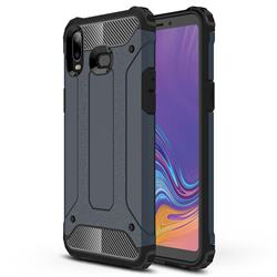 King Kong Armor Premium Shockproof Dual Layer Rugged Hard Cover for Samsung Galaxy A6s - Navy