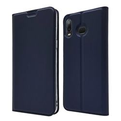 Ultra Slim Card Magnetic Automatic Suction Leather Wallet Case for Samsung Galaxy A6s - Royal Blue