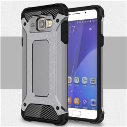 King Kong Armor Premium Shockproof Dual Layer Rugged Hard Cover for Samsung Galaxy A7 2016 A710 - Silver Grey