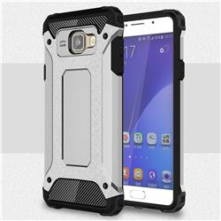 King Kong Armor Premium Shockproof Dual Layer Rugged Hard Cover for Samsung Galaxy A7 2016 A710 - Technology Silver