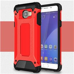 King Kong Armor Premium Shockproof Dual Layer Rugged Hard Cover for Samsung Galaxy A7 2016 A710 - Big Red