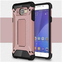King Kong Armor Premium Shockproof Dual Layer Rugged Hard Cover for Samsung Galaxy A7 2016 A710 - Rose Gold