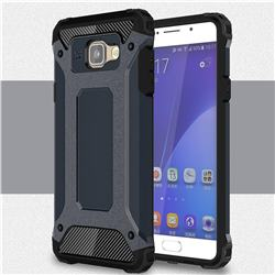 King Kong Armor Premium Shockproof Dual Layer Rugged Hard Cover for Samsung Galaxy A7 2016 A710 - Navy