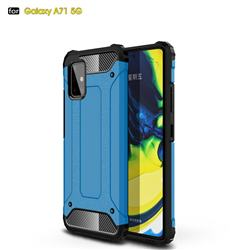 King Kong Armor Premium Shockproof Dual Layer Rugged Hard Cover for Samsung Galaxy A71 5G - Sky Blue