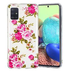 Peony Noctilucent Soft TPU Back Cover for Samsung Galaxy A71 5G