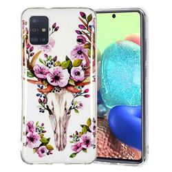Sika Deer Noctilucent Soft TPU Back Cover for Samsung Galaxy A71 5G